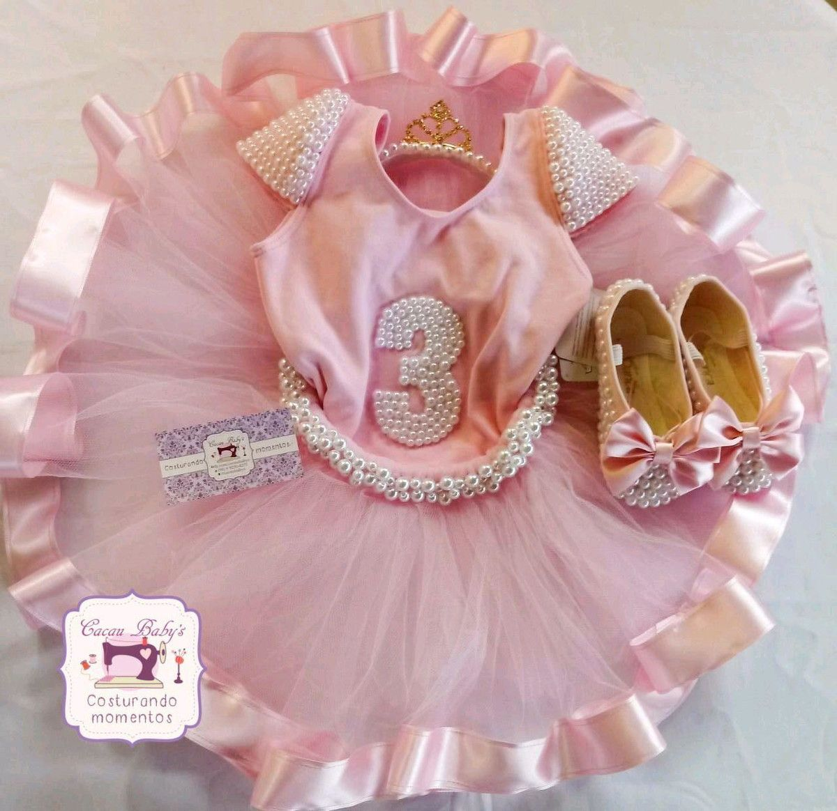 cb2f1575fb Body collant bailarina com manguinha de pérolas