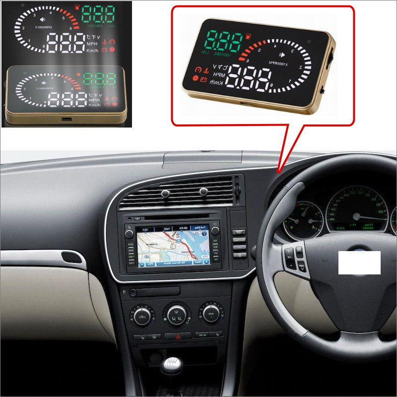 Car Hud Head Up Display For Saab 9 3 9 5 Safe Driving Screen