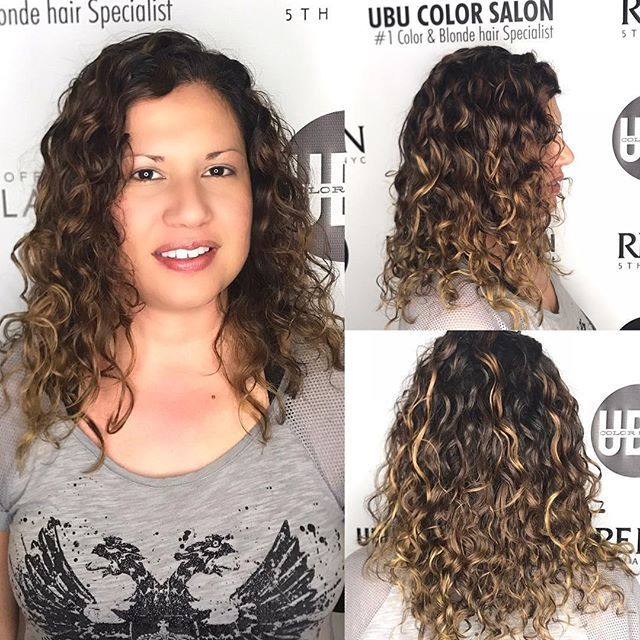 Ouidad Haircut And Curly Hair Balayage By Pennymagdziak Our Curly Hair Specialist Using Ouidad Curl P Curly Hair Specialist Curly Hair Styles Ouidad Haircut