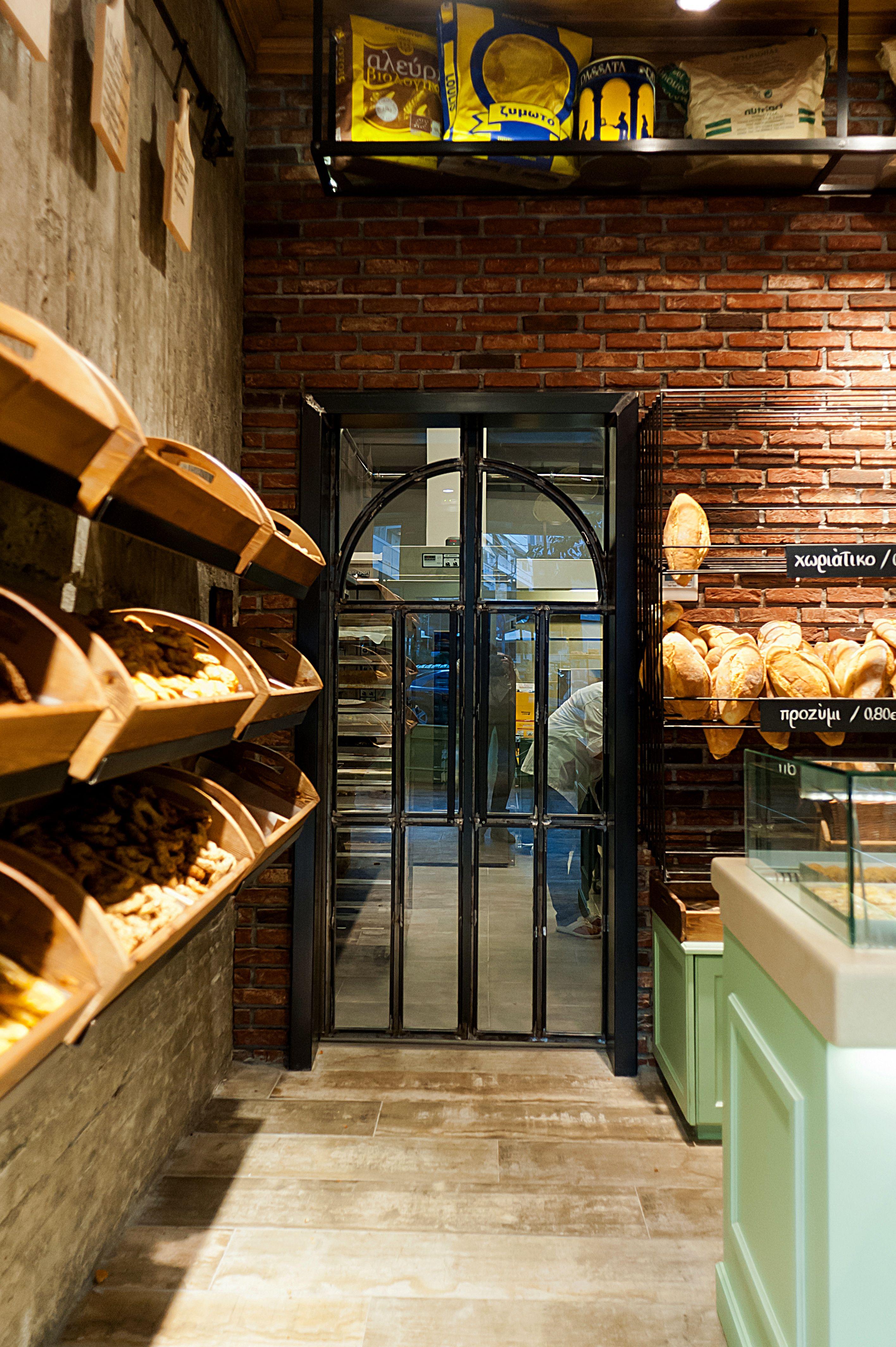 kogias'' bakery interior design constantinos bikas  bakery  - different angle on previously posted bakery design constantinos bikas interiordesigner  kogia bakery by konstantinos bikas via behance