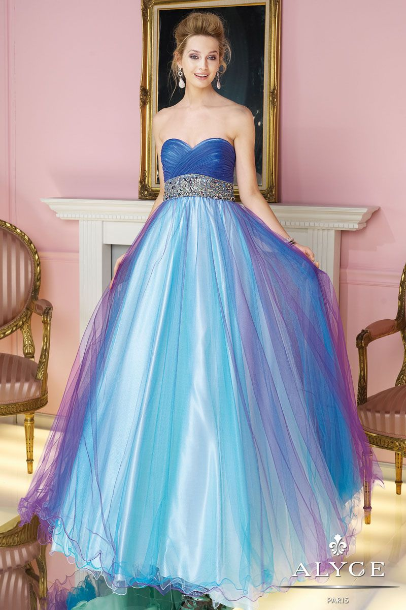 Like: color and top Hate: no bling and not a ballgown | gown town ...