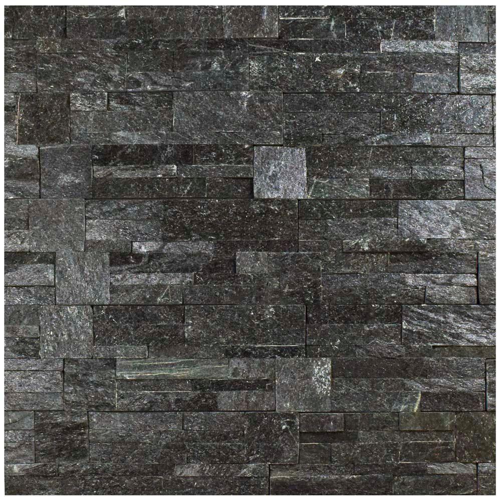 Merola Tile Ledger Panel Black Quartzite 7 In X 13 1 2 In Natural Stone Wall Tile 6 Cases 31 5 Sq Ft Pallet Lpnbkq The Home Depot Natural Stone Wall Stone Tile Wall Merola Tile
