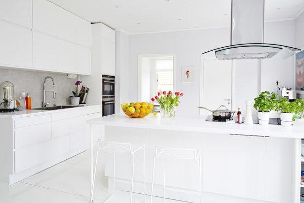 de 30 fotos de decoración de Cocinas Blancas modernas   Decoracion ...