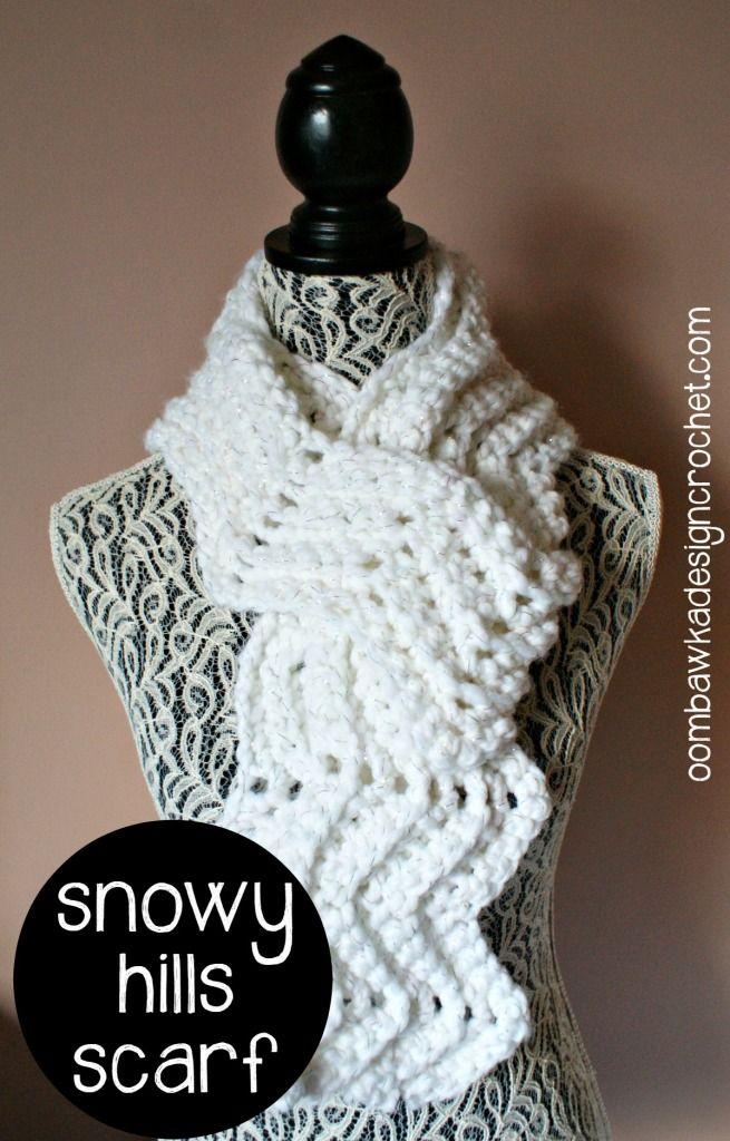 Snowy Hills Scarfie - Free Pattern | scarves, wraps | Pinterest ...