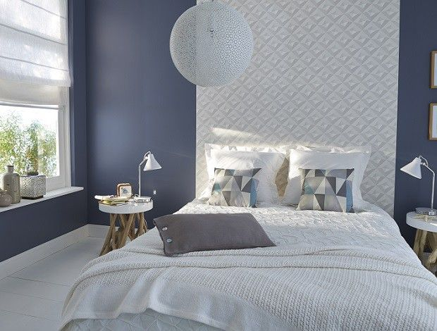 Grey And White Modern Bedroom. Http://Www.Facebook.Com/Kenisa.Home