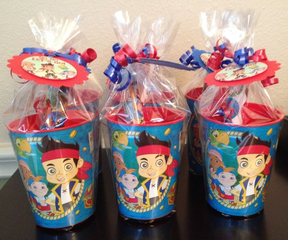 Jake and the Never Land Pirates Plastic Loot Bags 8