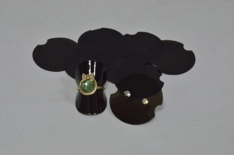 25 X Negro plástico de doble propósito Soporte De Exhibición Para Anillos Pendientes Soporte De Joyas