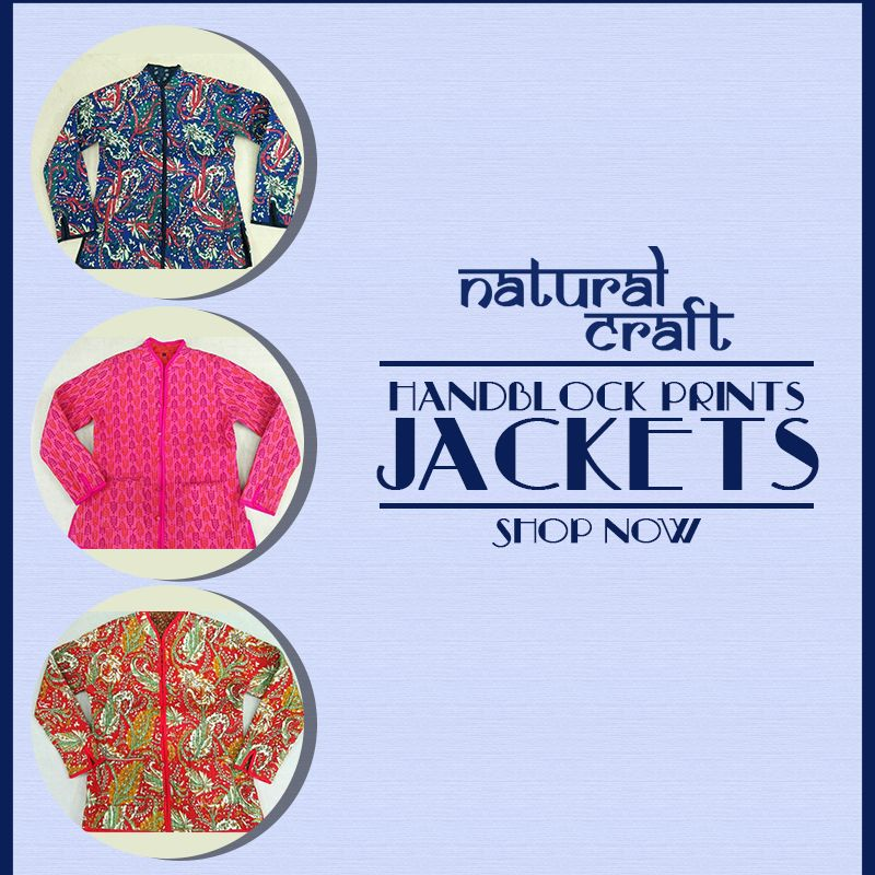 shop hand block design prints jackets by natural craft at best price