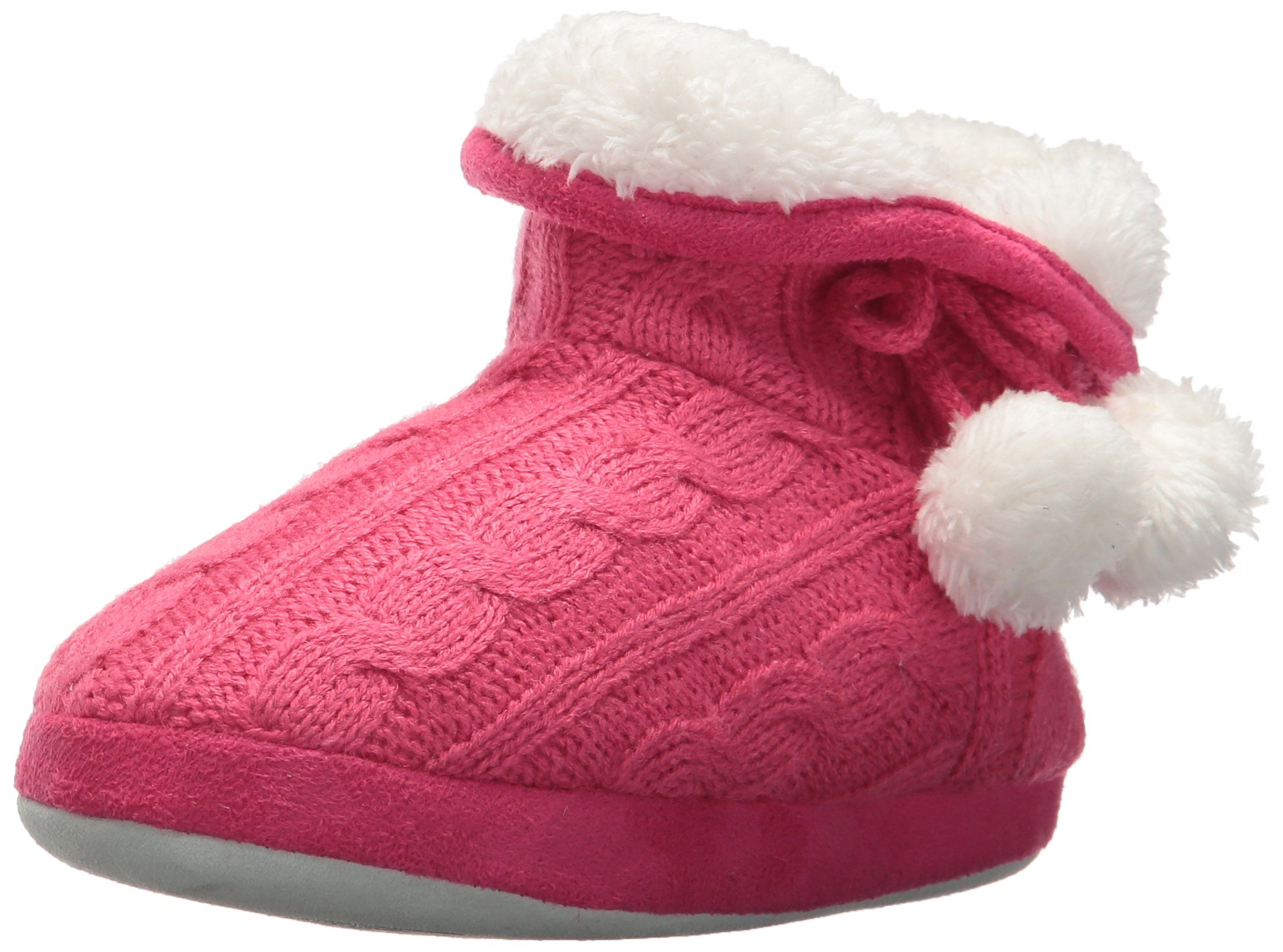 Stride Rite Girls Boot Slipper Charlotte Cable Pink 9 10 M US