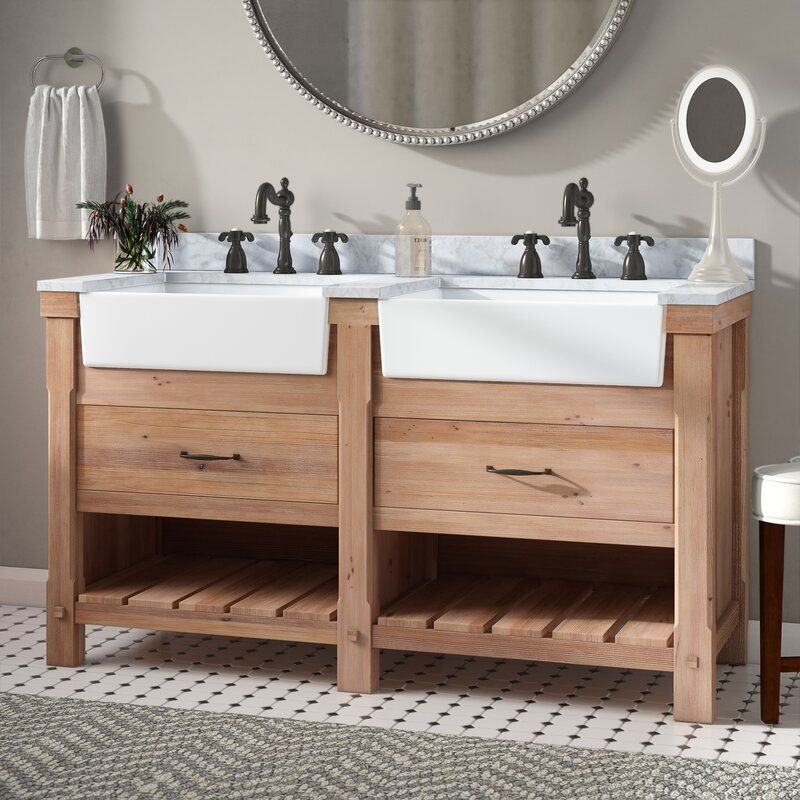 Wayfair Bathroom Vanity >> Kordell 60 Double Bathroom Vanity In 2019 Vanity Single