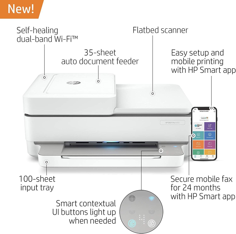 Hp Envy Pro 6400 Wireless Printer Mobile Print Printer