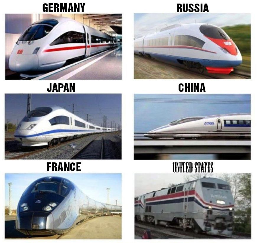 Trains Around The World Train Train System Funny