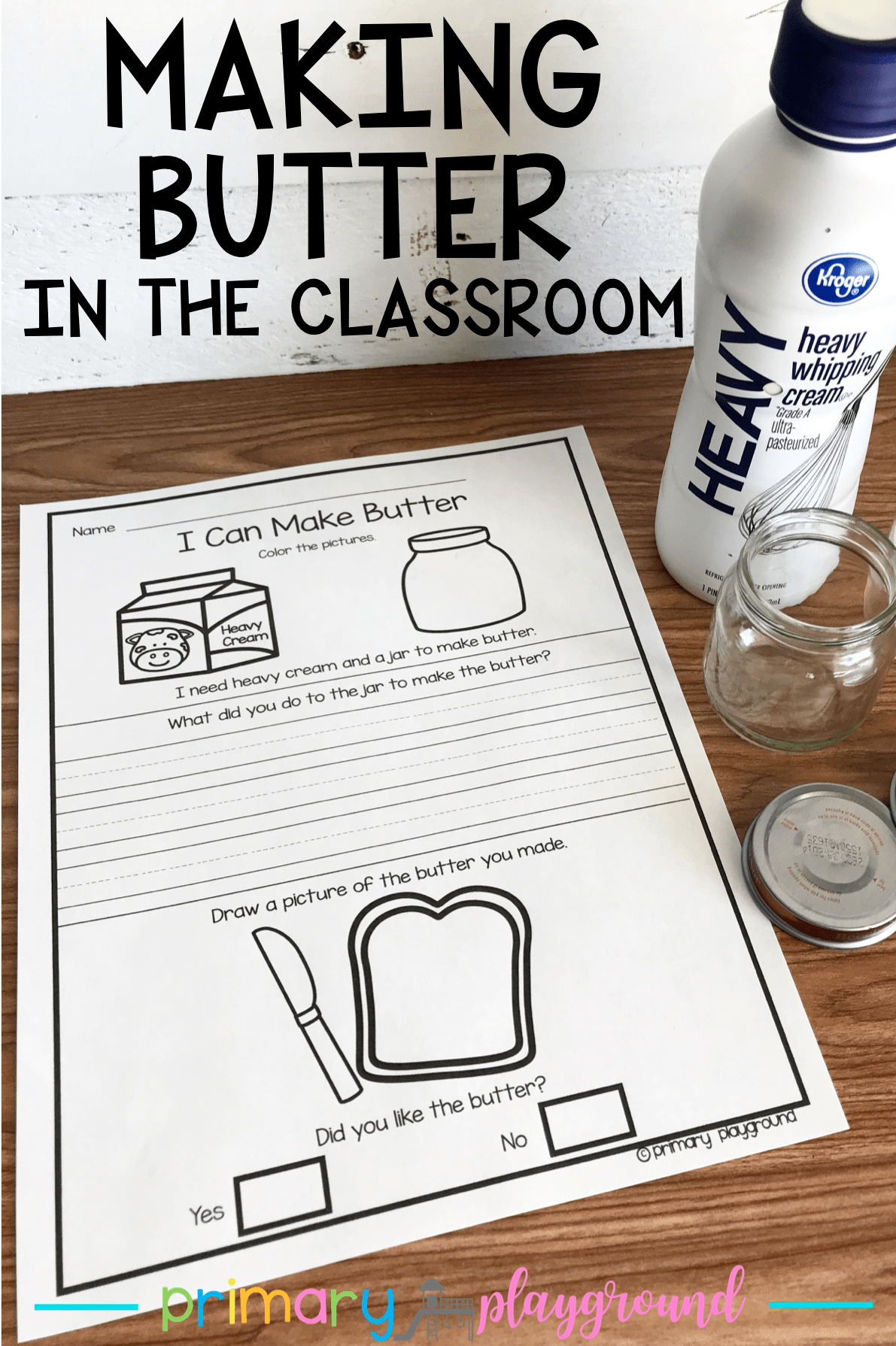 Making Butter In the Classroom -   18 holiday crafts kindergarten ideas