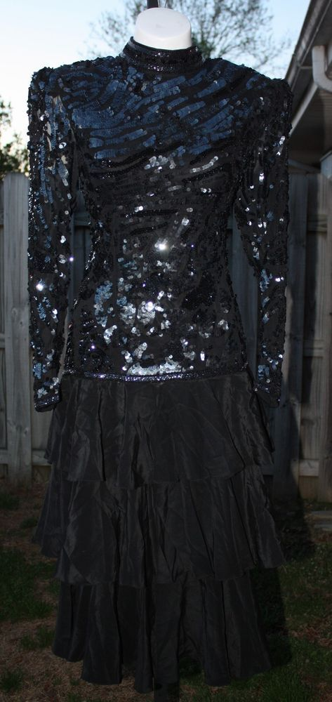 Alyce designs black sequin dress