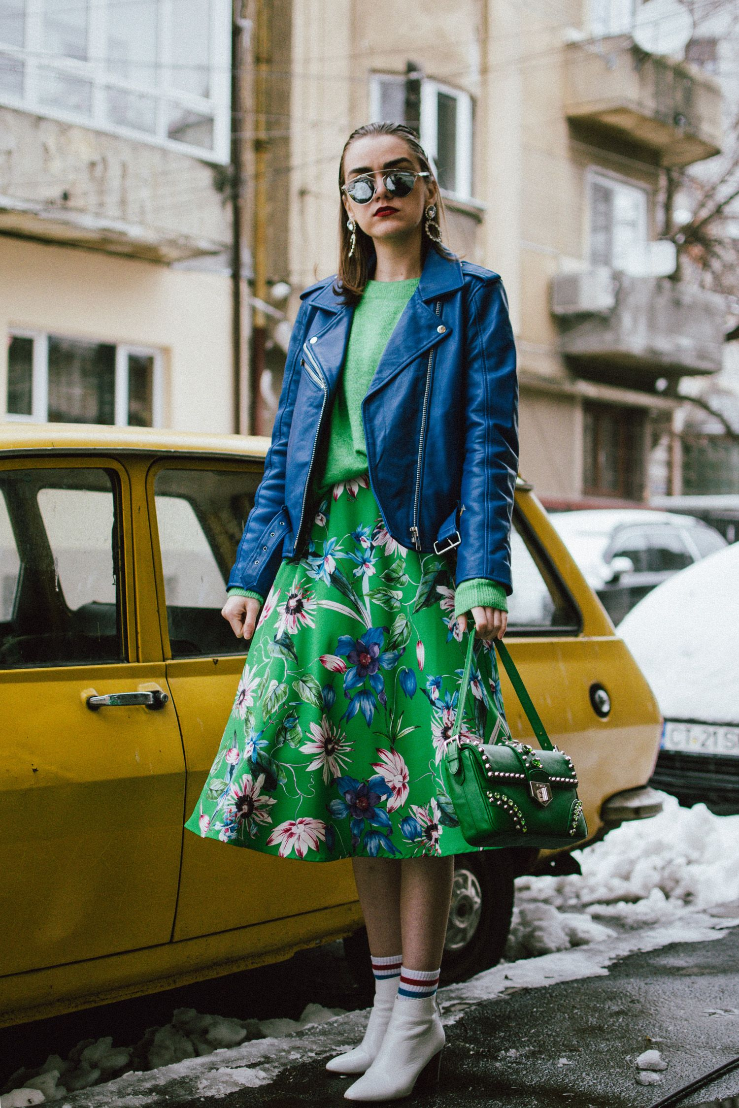 Andreea Reyes fresh color combo to try this spring: green and blue