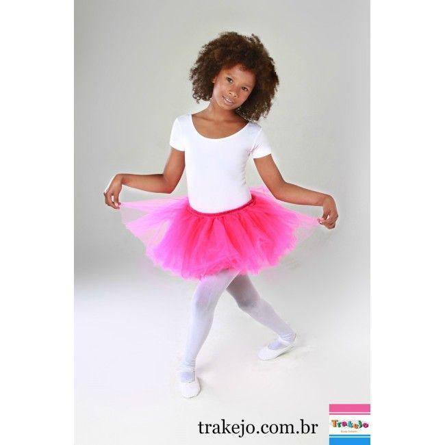 6dd8370fd Saia Tutu De Bailarina Infantil Rosa Pink