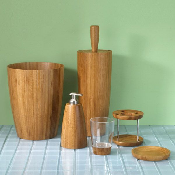 give your bath a sleek natural look with boomba accessories featuring smooth bamboo wood for sophistication with a decidedly exotic appeal - Wooden Bathroom Accessories Uk