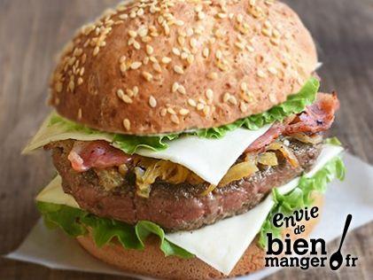 Burger Au Société Croque Lard Fumé Et Oignons