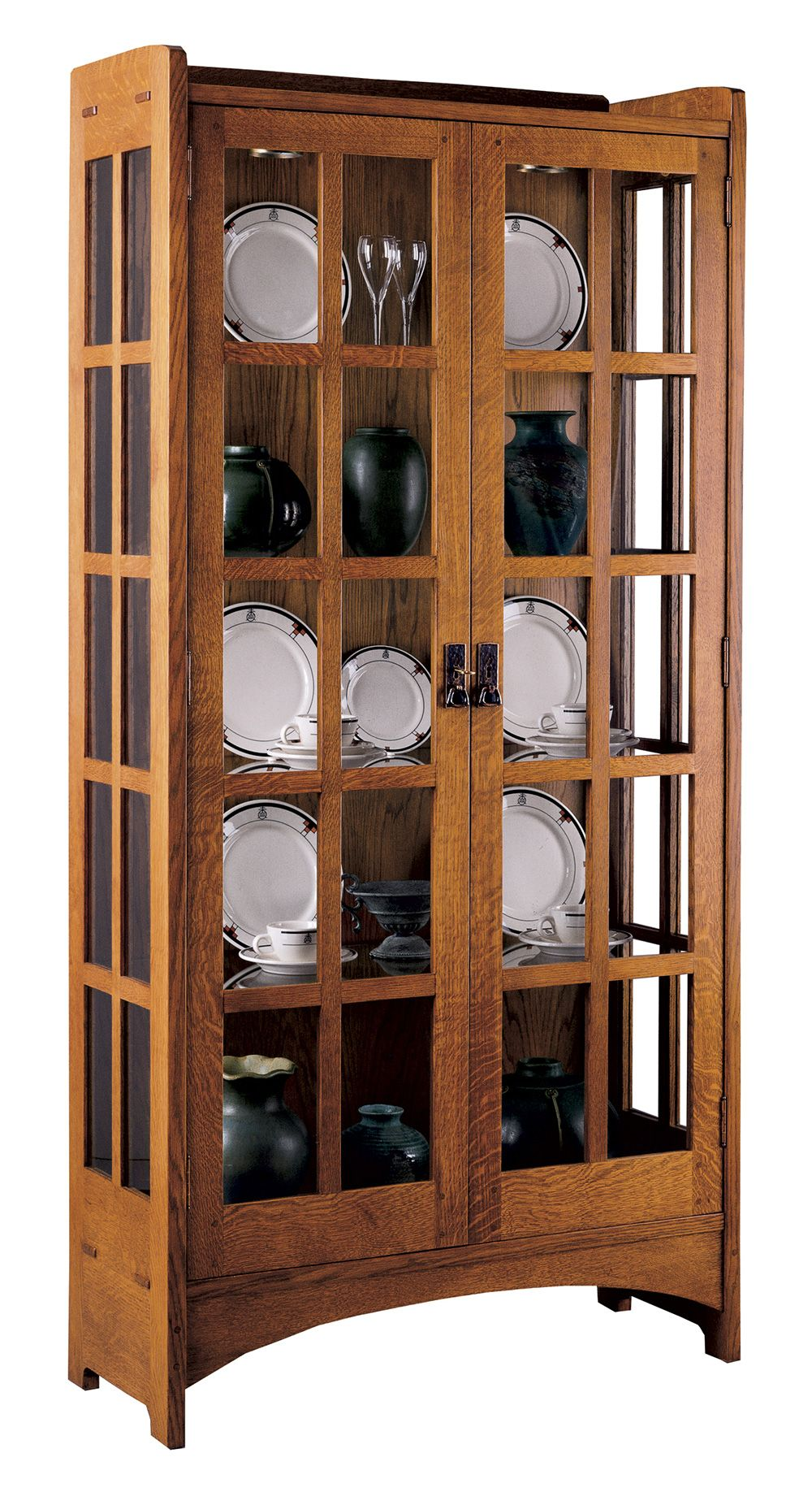 Display Cabinet Mission Collection Stickley Furniture Stickley Furniture Craftsman Furniture Mission Style Furniture