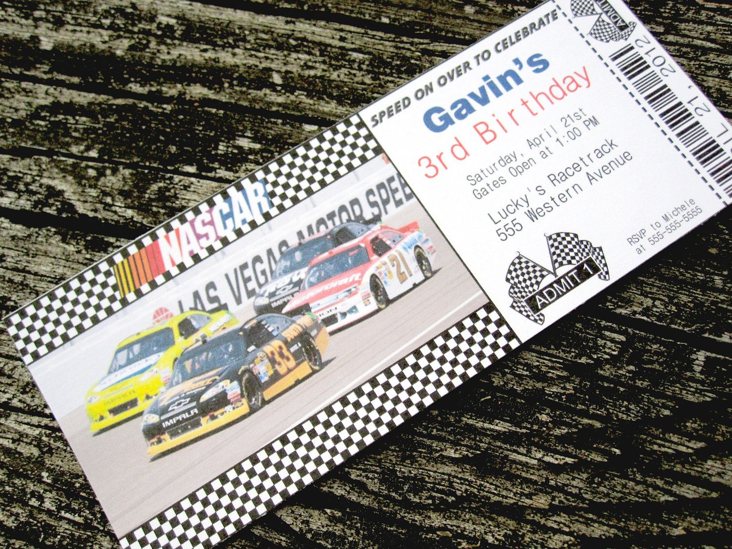 Nascar racing ticket custom printable birthday invitation nascar nascar themed birthday invitations nascar racing ticket custom printable birthday by mmscrapshoppe filmwisefo Choice Image
