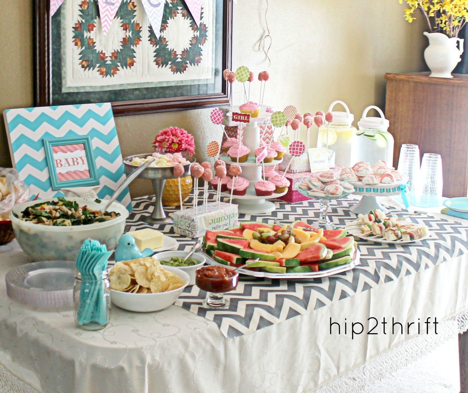 Simple Chevron Baby Shower