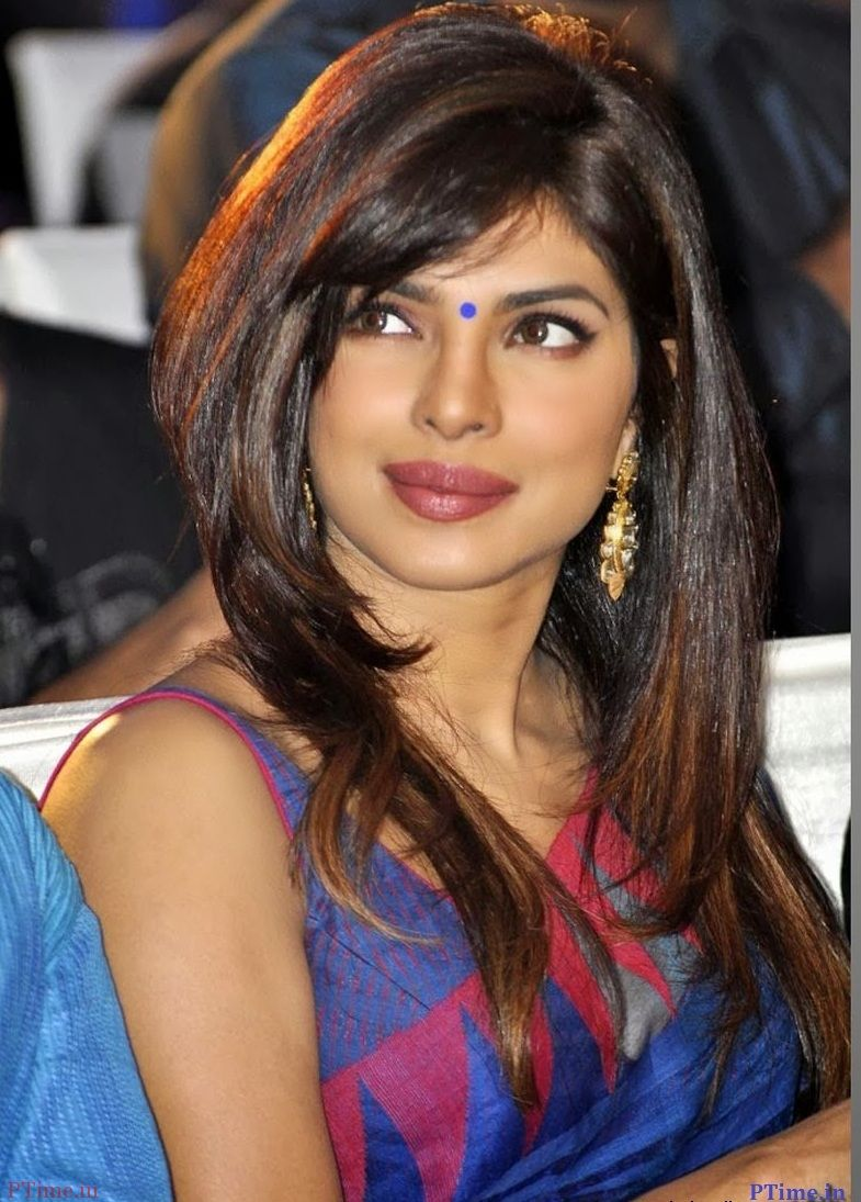 priyanka gorgious hairstyle in sarees priyanka chopra    beauty