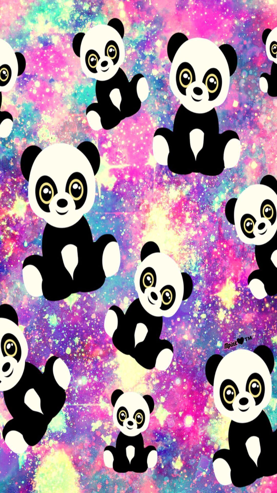 Cute Panda Galaxy Wallpaper Androidwallpaper Iphonewallpaper Wallpaper Galaxy Sparkle Glitter Lockscreen Pr Cute Wallpapers Galaxy Wallpaper Panda Love