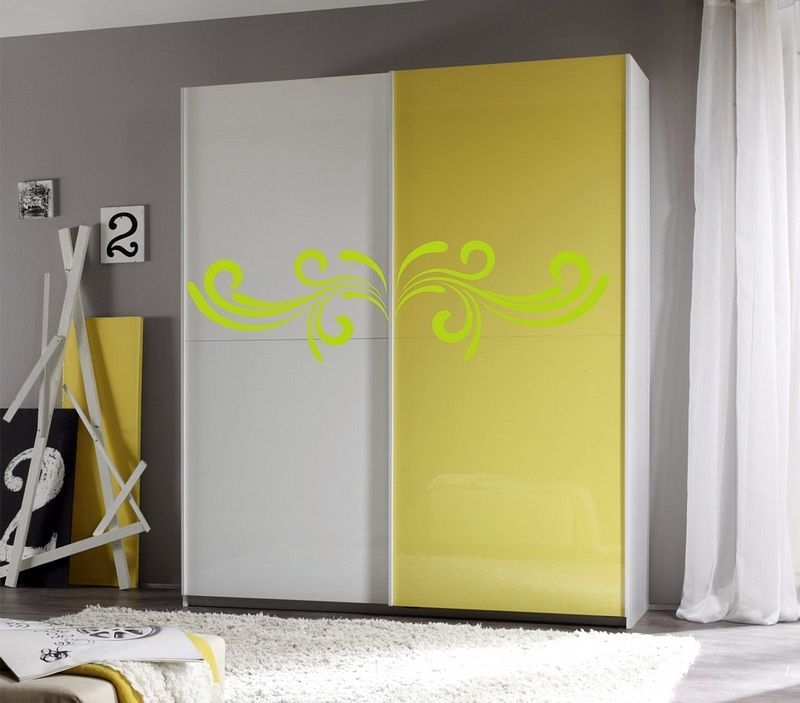 Stickers Per Ante Armadio.Flower Swirly Floral Wall Stickers Vinyl Art Room Decal Wardrobe