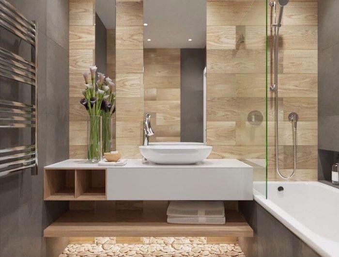 Salle de bain beige et gris \u2013 pierre deviendra sable