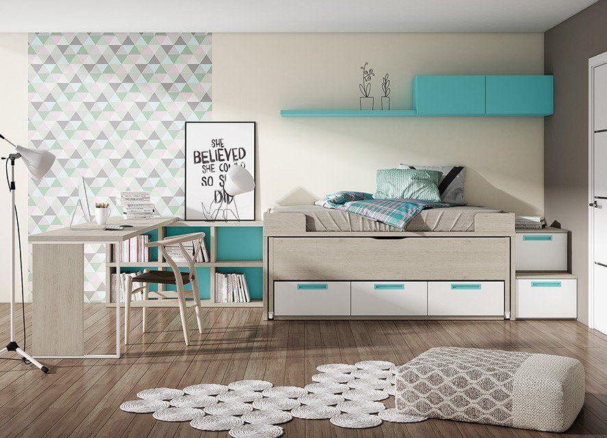 Dormitorio juvenil moderno 270 013 juveniles 2017 2018 for Dormitorios juveniles compactos modernos
