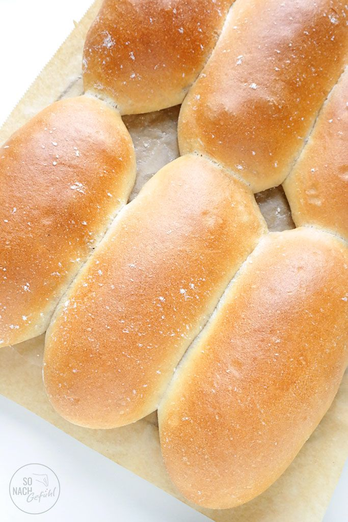 Fluffige Sandwich Brötchen - So nach Gefühl