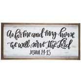 As For Me & My House Wood Wall Decor