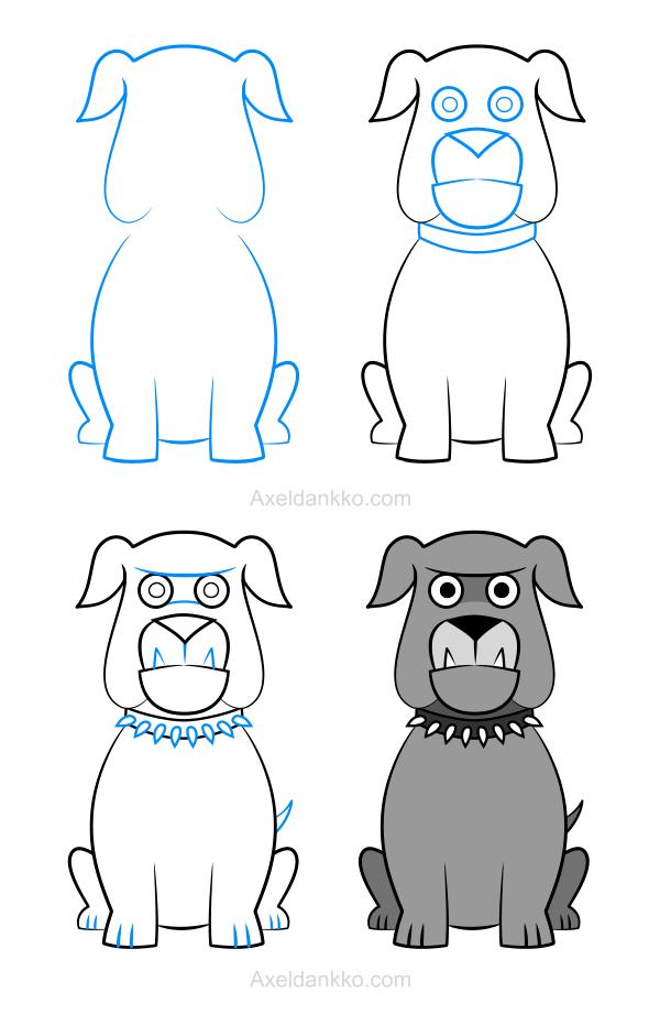 How to draw a bulldog  Comment dessiner un bulldog  dessin