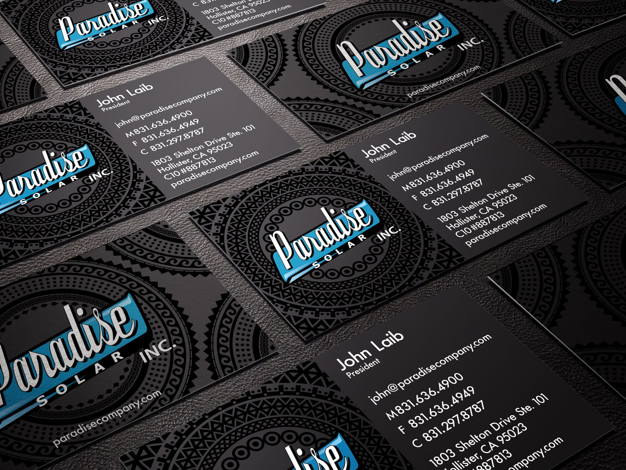 Paradise Electrical Hawaiian Tribal Business Cards 2015. Check us ...