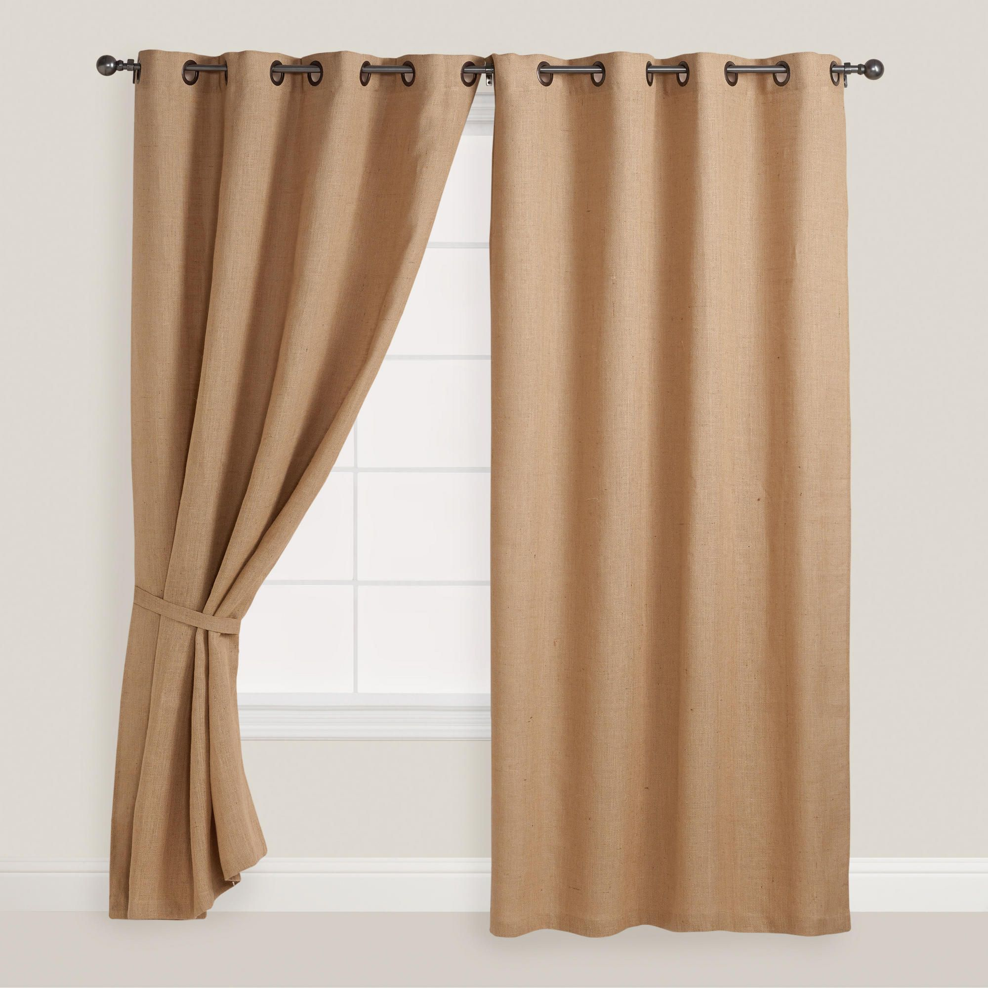 Superior Hemp Burlap Grommet Top Curtain | World Market