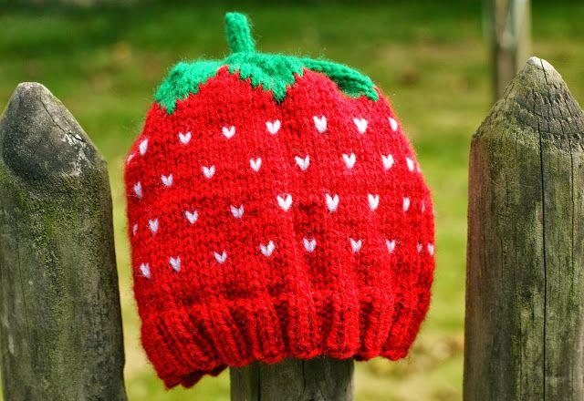 Erdbeer Mützchen Nach Gratis Anleitung Häkeln Pinterest Mütze