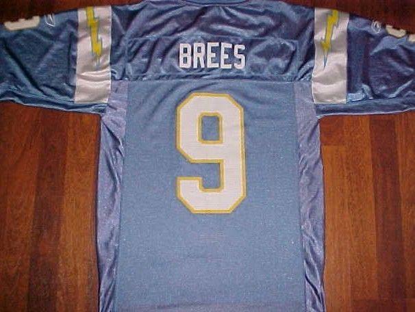 Drew Brees 9 San Diego Chargers NFL AFC West Reebok Powder Blue Nylon Jersey  S   32aa9ec3e