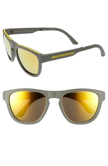 7b95600d9b90 AX Armani Exchange 54mm Foldable Sunglasses Gold One Size