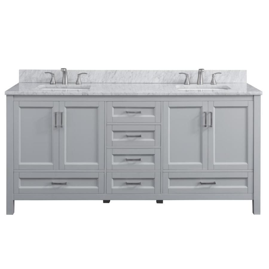 Scott Living Durham 72 In Light Gray Double Sink Bathroom Vanity