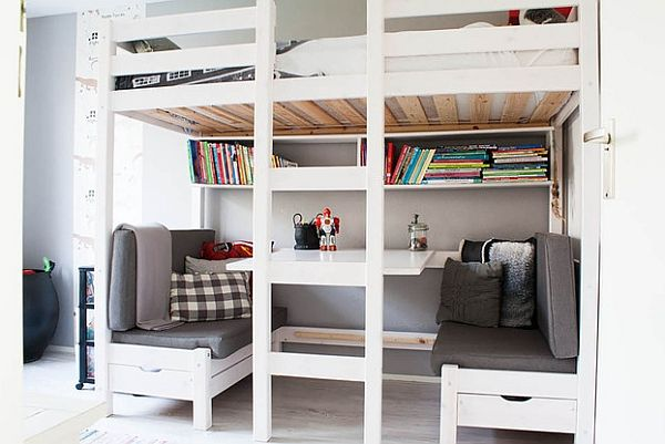 Loft Beds With Desks Underneath Bedroom Built Ins Loft Bunk Beds