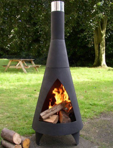 The Hacienda | Metal chiminea for Tom | Indoor fire pit ...