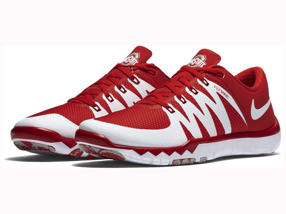 Ohio State Buckeyes Nike NCAA Men's Free Trainer 5.0 V6 AMP Running Shoes