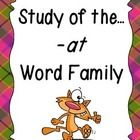 This unit provides plenty of fun, learning centered around the -at word family! Students will have plenty of practice learning new words, writing t...