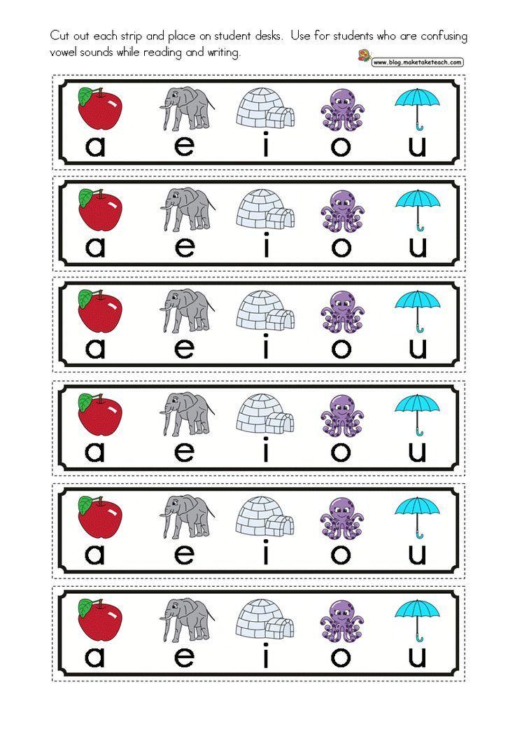 Short Vowels Cue Cards | Kindergarten Freebies | Teaching