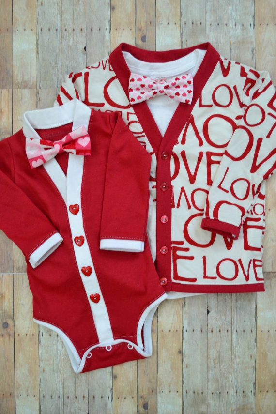 80fb8ad05 Big and Little Brother or Sister Valentine s Day Cardigan Onesie and ...