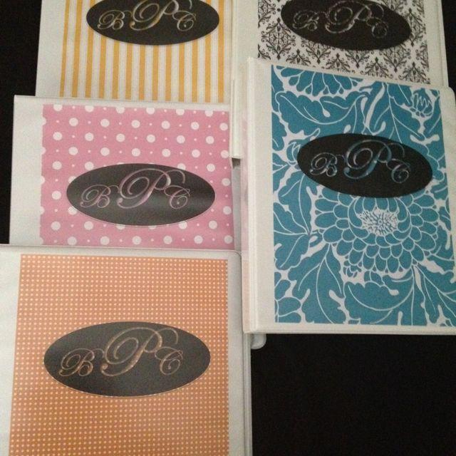 DIY Monogramed Binder Covers. Insert Your Favorite