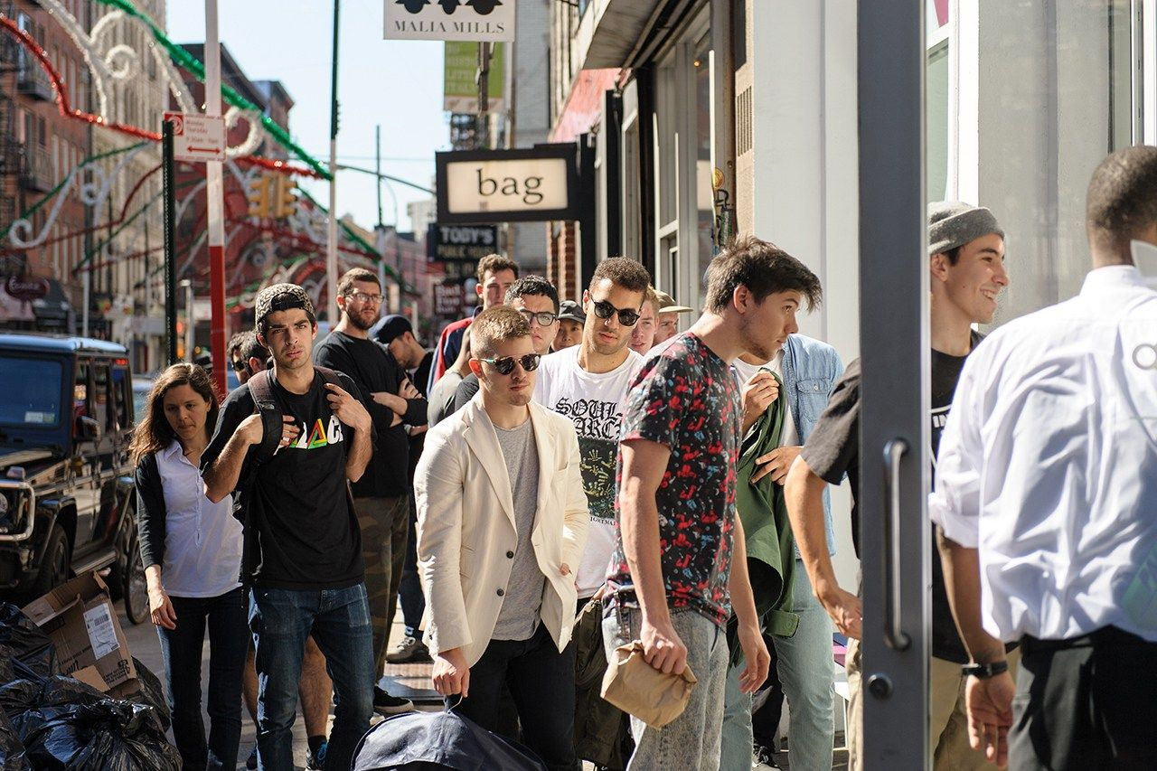heres a recap of the palace skateboards x adidas originals pop up launch this past weekend