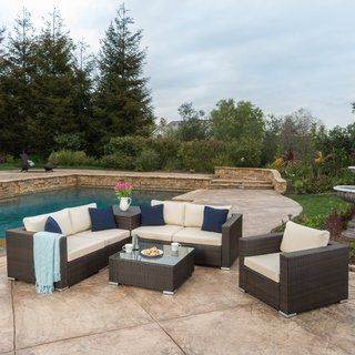 Brilliant Santa Rosa Outdoor 7 Piece Wicker Sectional Sofa With Creativecarmelina Interior Chair Design Creativecarmelinacom