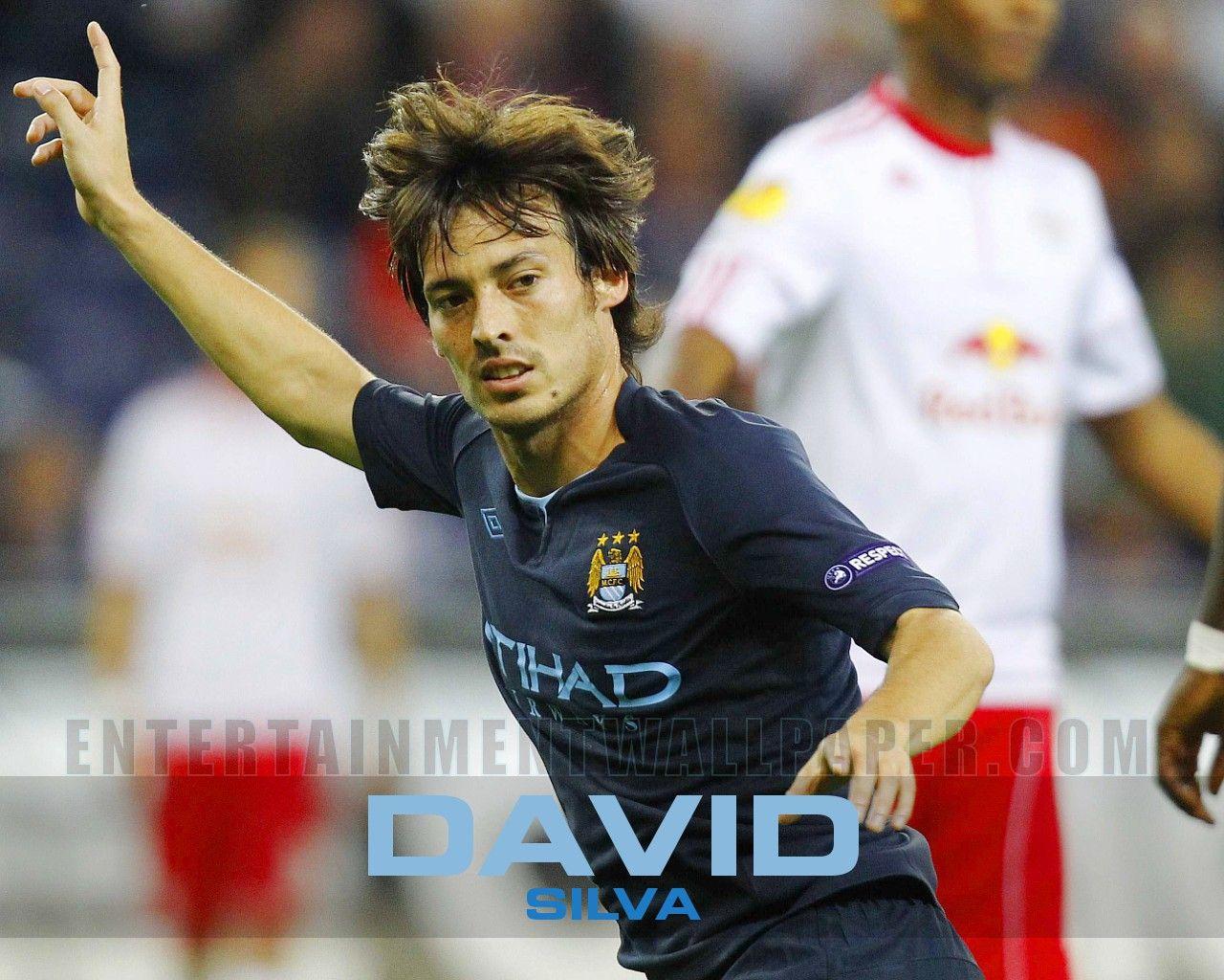 David Silva Goal Celebration Photo Picture Image