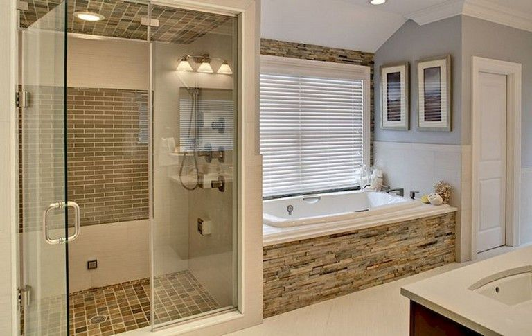 58 Beautiful Master Bathroom Remodel Ideas Rustic Master Bathroom Master Bathroom Shower Diy Bathroom Remodel